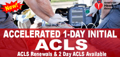 AHA ACLS Accelerated 1 Day Course